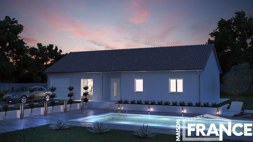 Centriste maison neuve typique du centre de la france for Pavillon moderne construction
